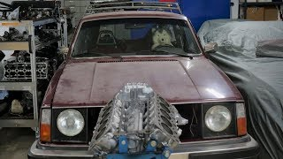 Project Update Volvo with Lamborghini V10 Engine!
