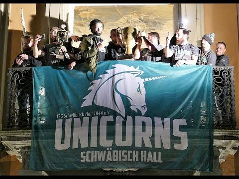 Meisterfeier Unicorns Schwäbisch Hall German Bowl 2017 Champion-Unicornsfootball-Siegerfeier 2017