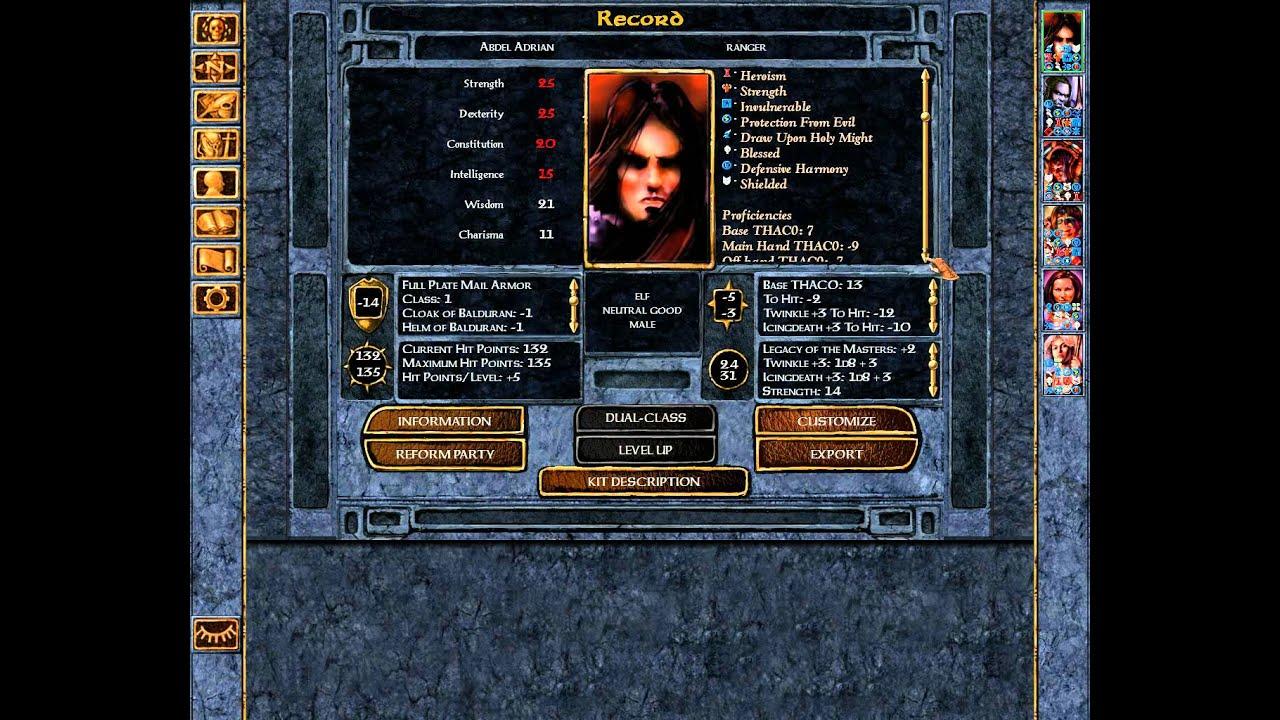 Abdel AdrianMy Protagonist Vs Drizzt DoUrden In Baldurs Gate Enhanced Edition