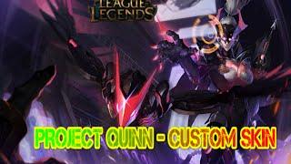 project quinn skin spotlight custom skin league of legends