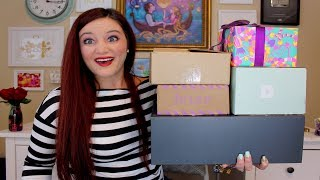 UNBOXING LIMITED EDITION HOLIDAY SUBSCRIPTION BOXES | PSMH. IPSY. BIRCHBOX. LUSH COSMETICS. ETC.