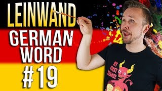 Learn German A.1 🇩🇪 Word Of The Day: Leinwand | Episode 19 | Get Germanized