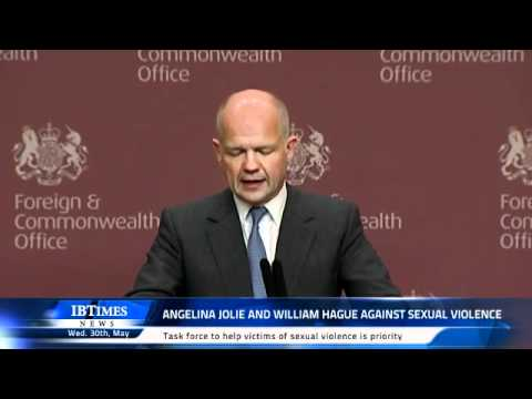 Angelina Jolie and William Hague against sexual violence