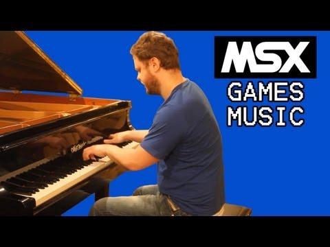 The Best MSX Music On Piano! - Músicas Dos Jogos Do MSX No Piano!