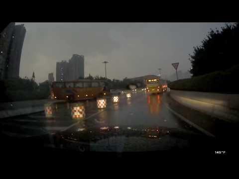 Veckle Mini 0906 Dual Dash Camera - Sample Video In The Rain