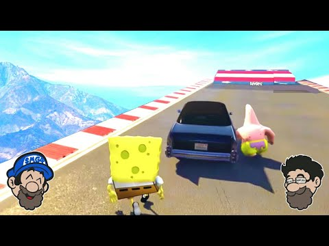 FAIL SPONGEBOB AND PATRICK STUNTS || GTA 5 MODS [Spongebob Squarepants mod]