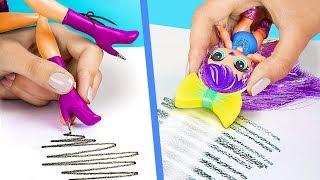 9 วิธีการในการแอบเอาบาร์บี้เข้าห้องเรียน / สูตรลัดตุ๊กตา LOL เซอร์ไพร์ส และสูตรลัดบาร์บี้ที่ชาญฉลาด