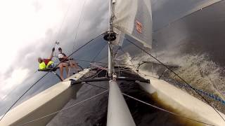 BartsGoPro - Making Wake - Hobie 21 Catamaran Sailing - GoPro