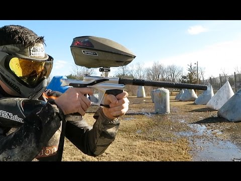 Shooting the new LVR paintball gun from Planet Eclipse