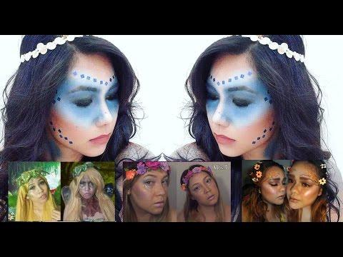 WATER FAIRY: Halloween Fairy Makeup Collab (baHANNAHpie, Mrs. J & AstrobeautyXO)