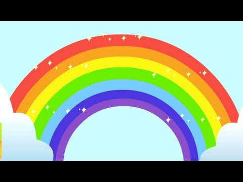 Animated Falling Leaves Wallpaper Rainbow Song Animated Learning Song For Children Youtube