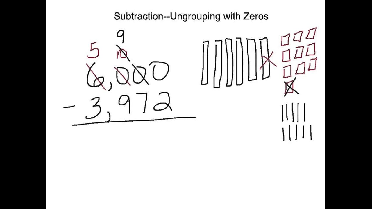 worksheet Subtracting With Zeros subtracting across zeros youtube zeros