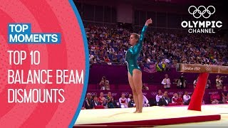 Best ever Balance Beam dismounts in Olympic history   Top Moments