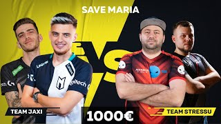 team JAXI vs team STR3SU *miza 1000€