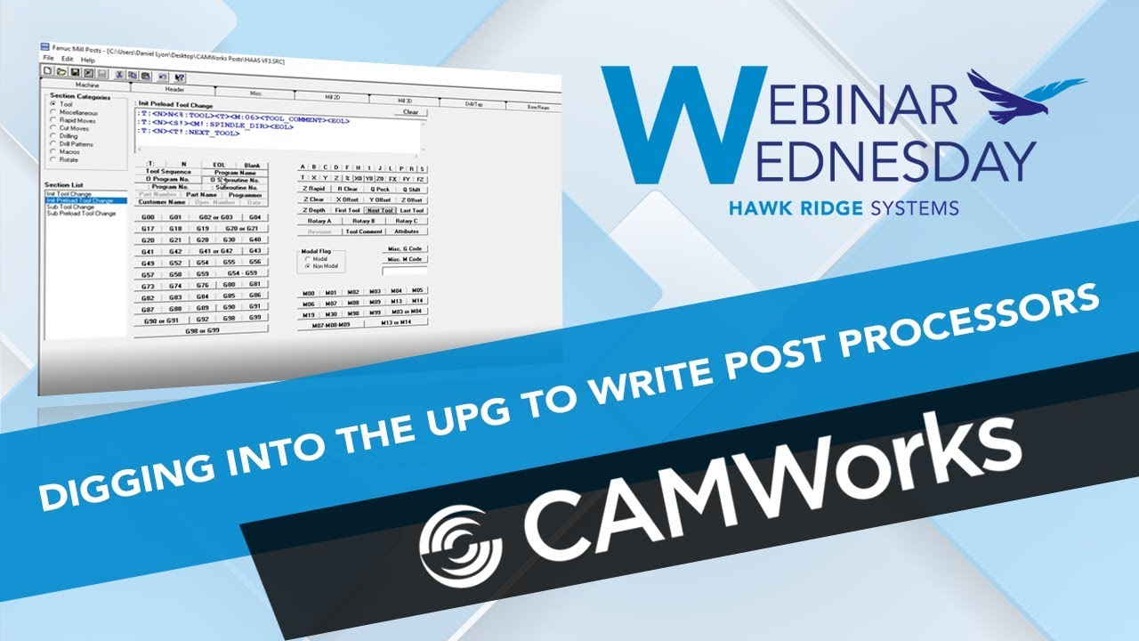 Digging into the UPG to write Post Processors with CAMWorks