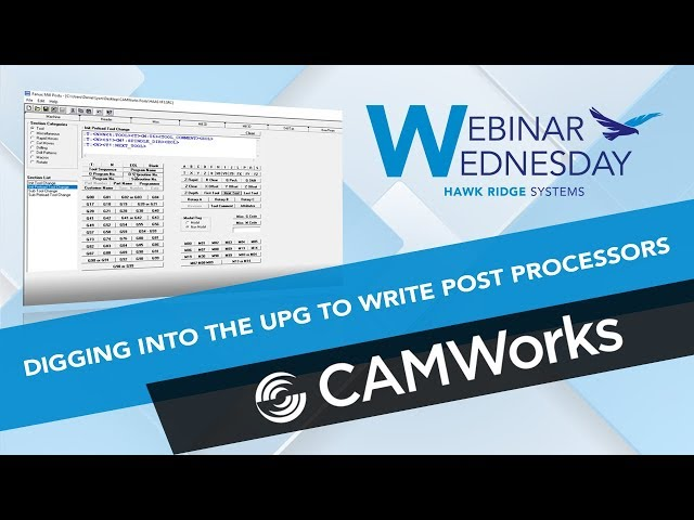 How To Edit Camworks Post Processor
