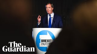 Brexit party leader Nigel Farage launches election campaign - watch live