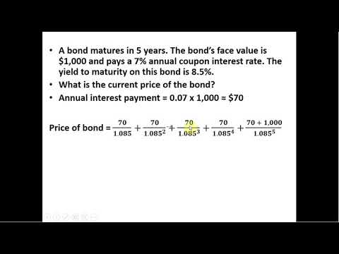 How To Calculate The Current Price Of A Bond