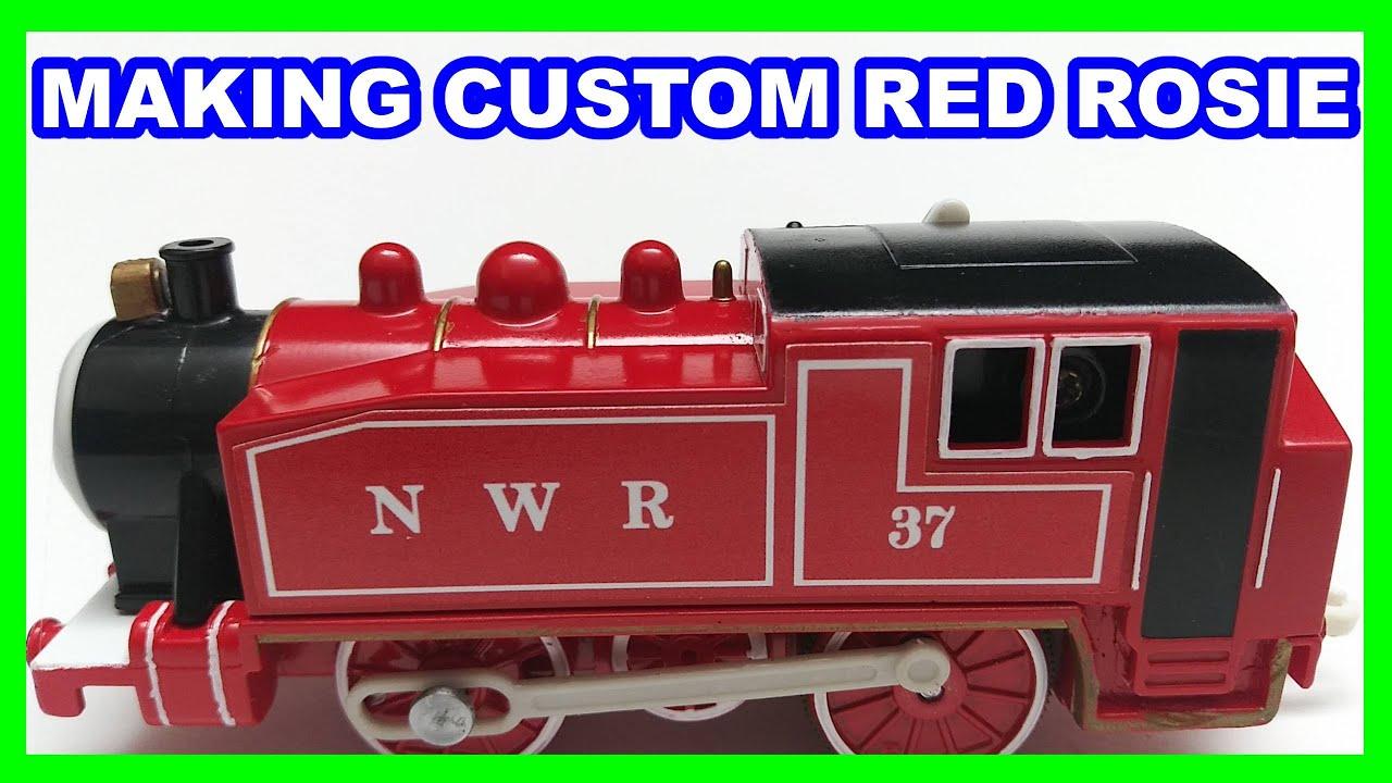 Making Custom Red Rosie #37  Trackmaster Thomas & friends Thomas y sus amigos 托馬斯和朋友 Томас и друзья