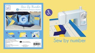 Sew By Number Pillows Step 3 - Sew