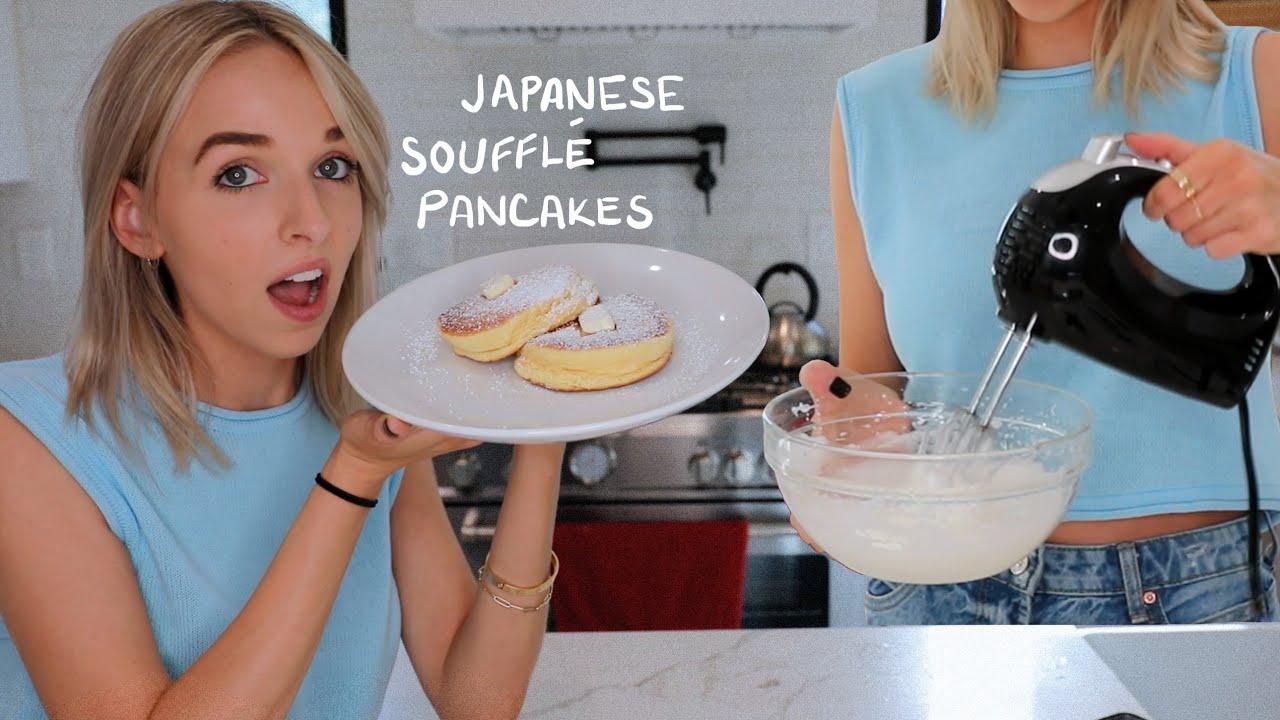 making FLUFFY PANCAKES (japanese soufflé pancakes)