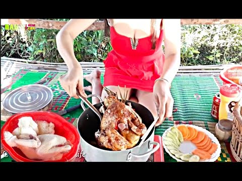 Beautiful Girl Roasted Chicken With Coca Cola  How to cook chicken Cambodian Recipes