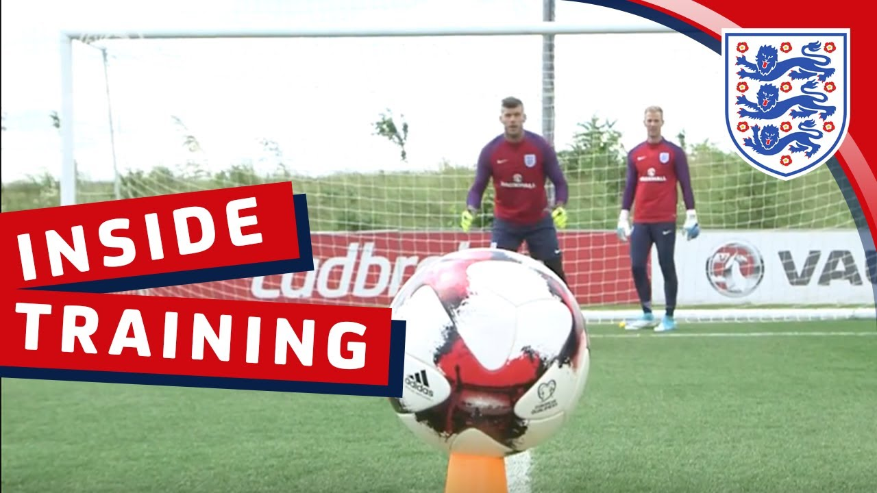 'Cutback' goalkeeper drill with Hart, Heaton, Forster and Butland | Inside Training