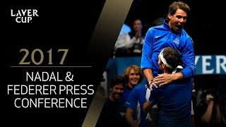 Nadal and Federer Press Conference (Match 8)   Laver Cup 2017