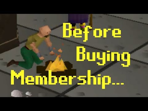 [OSRS] What To Do BEFORE Buying Membership