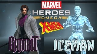 Marvel Heroes Omega Gambit and Iceman Live Stream of X-Dudes Doing Dude Things (Playstation 4 Pro)