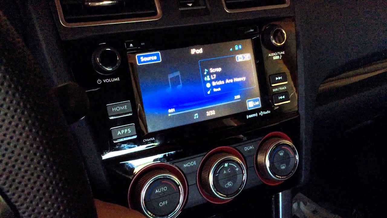 2016 Subaru Sti Starlink Ipod Issues Youtube