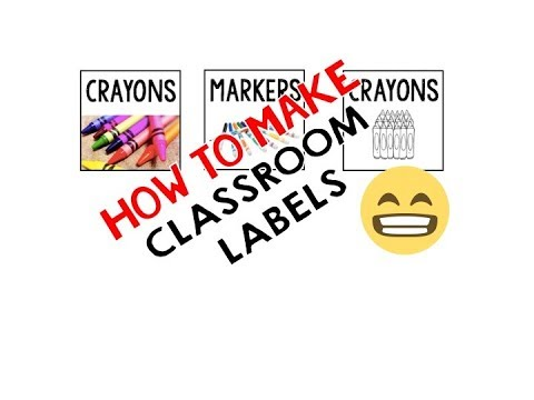 how to make free classroom labels using powerpoint youtube