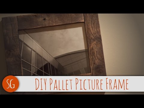 Easy DIY rustic wood picture frame that you can make! | Voiceover