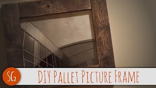 How-To Easy DIY rustic wood picture frame that you can make! Voiceover
