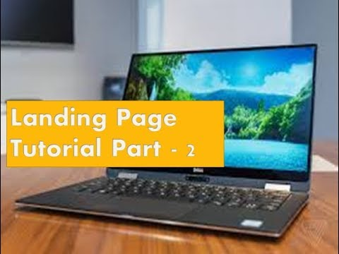 Create landing a page for online marketing Tutorial Part - 2 - Jomon Tube