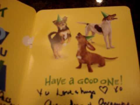 The Singing Dog Birthday CARD