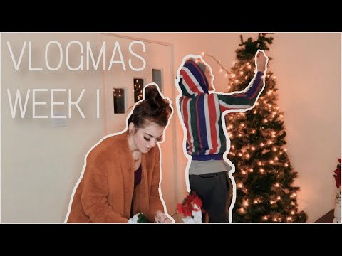 VLOGMAS WEEK 1| Empty House Tour, Decorating for Christmas + so much more thumbnail