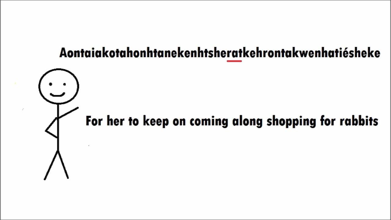 Mohawk Language Another Long Word Onkwehonwehneha Kanienkeha Native