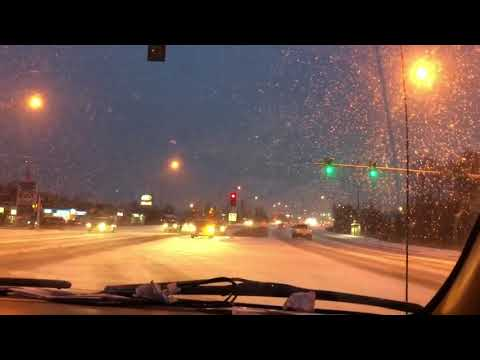 Anchorage/ Driving in the snow/ first snow/ Перший сніг в Анкориджі