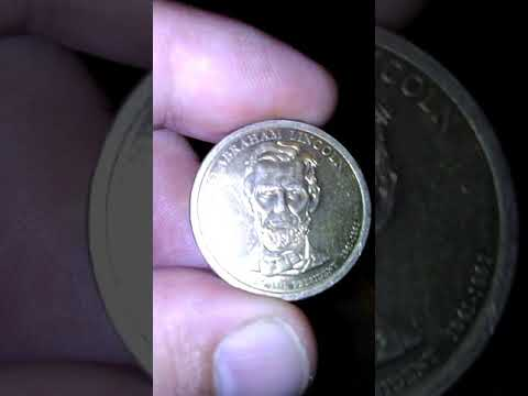 1861 Gold $1 ABRAHAM LINCOLN COIN
