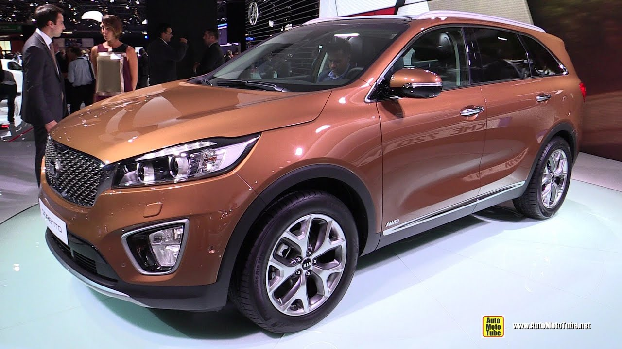 2015 KIA Sorento AWD   Exterior And Interior Walkaround   Debut At 2014  Paris Auto Show   YouTube