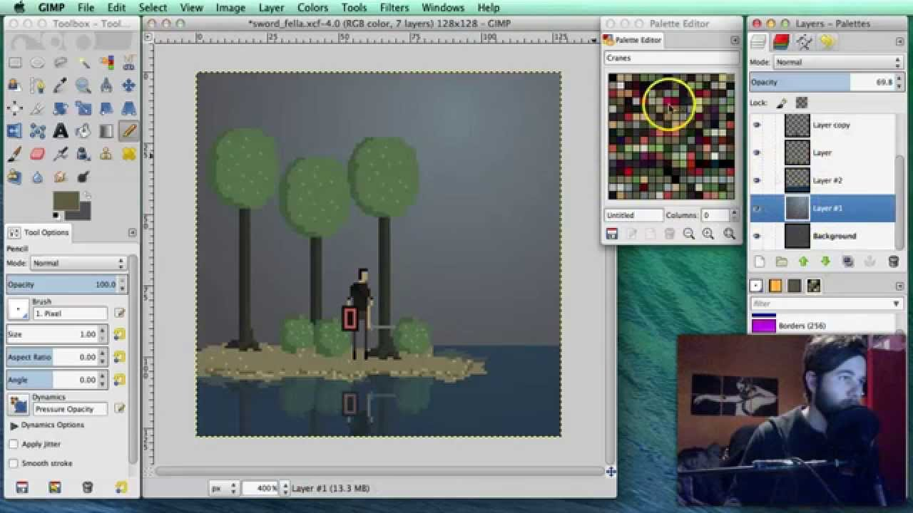 How To Pixel Art Tutorial Part 8 Background Youtube