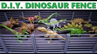 Diy Miniature Fence For Dinosaurs (or Whatever) - How To Craft Mini Wood Fences