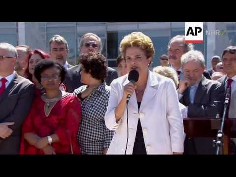 Brazil President says she's a victim of injustice