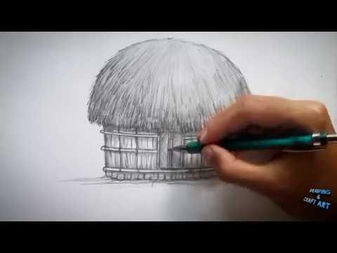 Cara Menggambar Rumah Adat Papua Dengan Mudah Drawing Craft Art