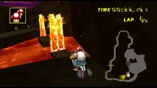[Mario Kart Wii TAS] Lava Rocks 2:19.656 (prelim)
