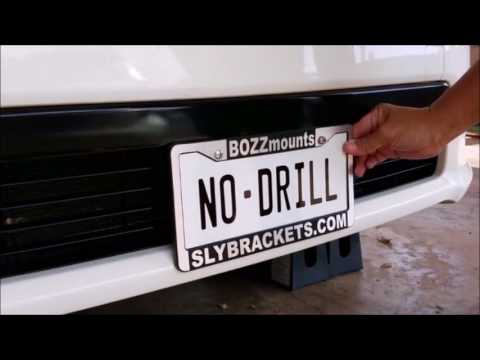 TRUE No-drill Front License Plate Bracket Mount for ACURA ...