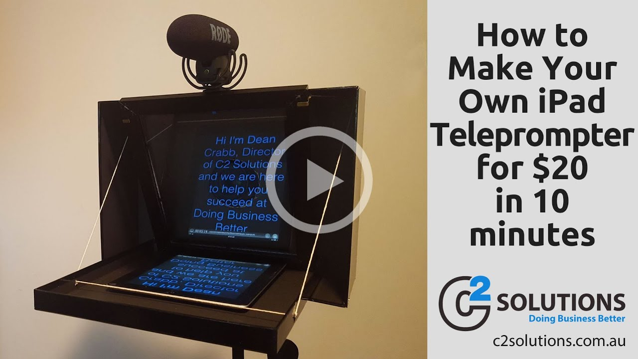 How to Make Your Own iPad Teleprompter for $20 in 10 minutes