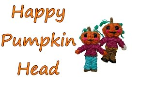Happy Pumpkin Head Tutorial by feelinspiffy (Rainbow Loom)