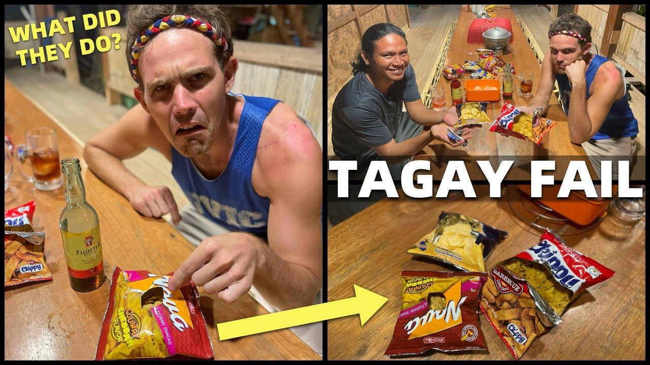 PHILIPPINES BARKADA DRINKING FAIL - Tagay Snacking With Filipino Alcohol